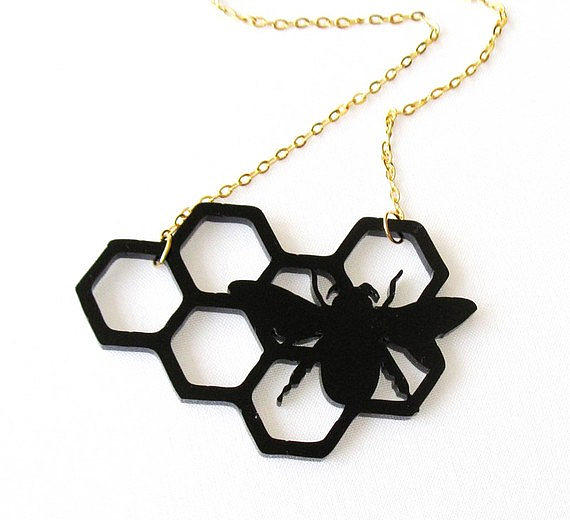 Jewelry Jewelry - Baronyka Black Bee Pendant Necklace by Rony Bank
