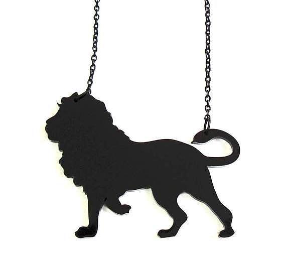 Jewelry Jewelry - Baronyka Black Lion Pendant Necklace by Rony Bank