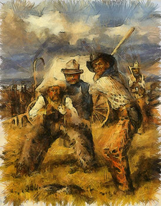 Cowboy Painting - Baseball by Shimi Gasaba