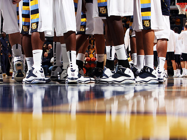Vs. North Florida White Uniforms Photograph - Basketball Court Reflections by Replay Photos