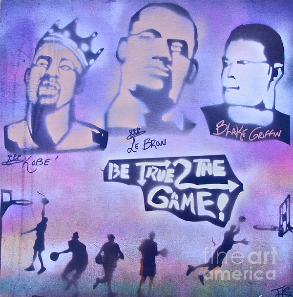 Kobe Bryant Painting - Be True 2 The Game 1 by Tony B Conscious
