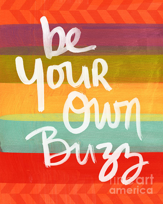 Stripes Painting - Be Your Own Buzz by Linda Woods