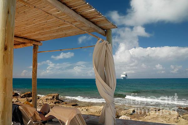 Bahamas Photograph - Beach Cabana  by Amy Cicconi