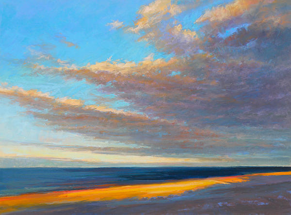 Beach Painting - Beach Front by Ed Chesnovitch