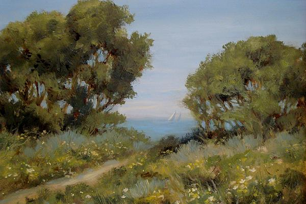 Landscape Painting - Beach Path #2 by Tina Obrien