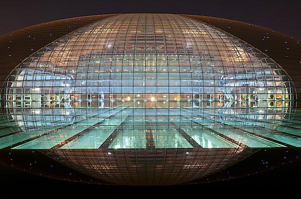 Beautiful Beijing Opera House At Night Photograph by Pavliha