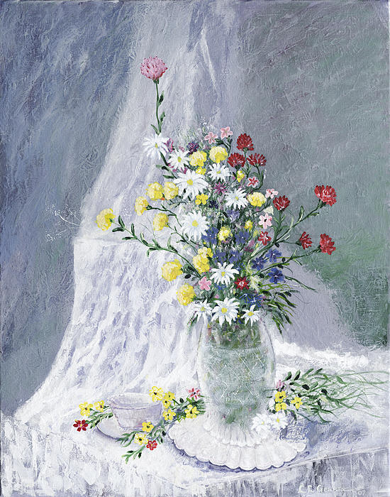 Flowers Painting - Beauty Is Within by Leo Gehrtz