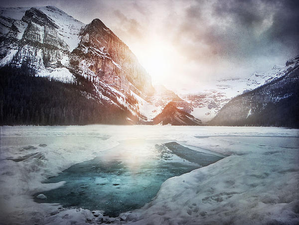 Landcapes Photograph - Beginning To Thaw by Kym Clarke