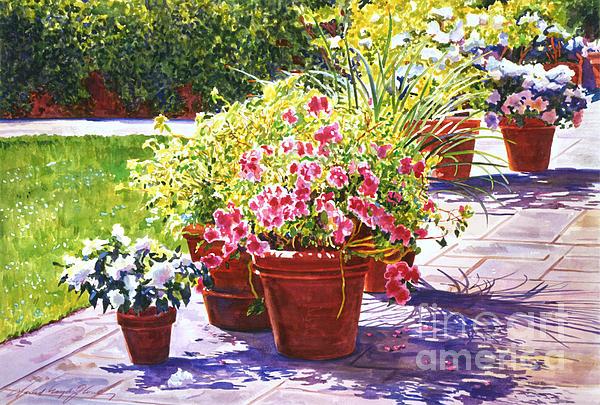 Gardens Painting - Bel-air Welcome Garden by David Lloyd Glover