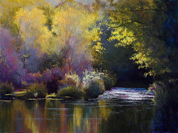 River Painting - Bending With The River by Vicky Russell