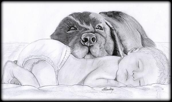 Best Friends Painting - Best Friends by Saki Art