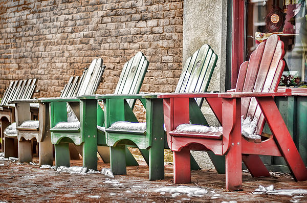Chair Photograph - Best Seats In Town by Heather Applegate