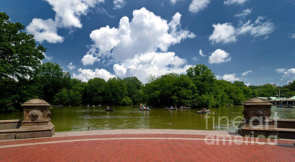Boat Photograph - Bethesda Terrace Central Park New York by Amy Cicconi