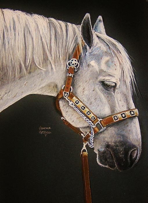 Horse Pastel - Between Classes by Heather Gessell