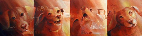 Dachshund Painting - Beware Of Bark by Vanessa Bates