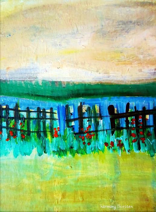 Landscape Painting - Beyond by Harmony Thiessen