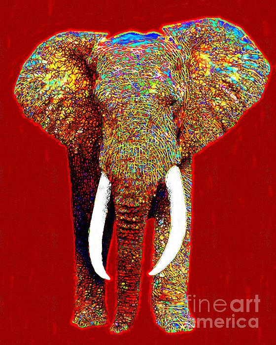 Elephant Photograph - Big Elephant 20130201p0 by Wingsdomain Art and Photography