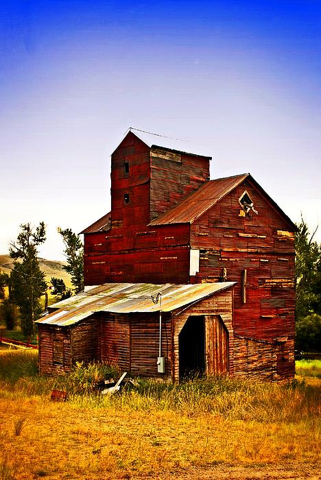 Grain Elevator Photograph - Big Red Grain Elevator by Marty Koch