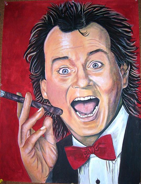 Movie Scrooged Painting - Bill Murray by Linda Vaughon