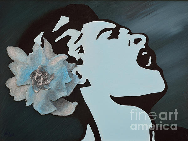 Mixed Media Painting - Billie Holiday by Alys Caviness-Gober
