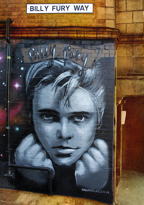 Mural Photograph - Billy Fury Way by Stephen Norris
