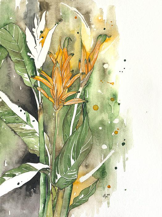 Strelitzia Painting - Bird Of Paradise 08 Elena Yakubovich  by Elena Yakubovich