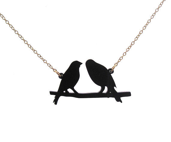 Jewelry Jewelry - Birds On A Wire Pendant Necklace by Rony Bank