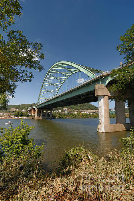 Allegheny County Photograph - Birmingham Bridge Pittsburgh South Side by Amy Cicconi