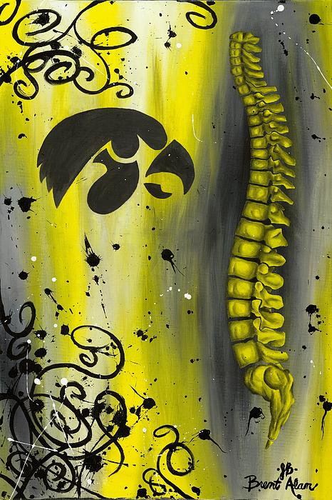 Contemporary Painting - Black And Yellow by Brent Buss