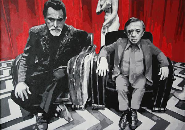 Laura Palmer Painting - Black Lodge by Ludzska