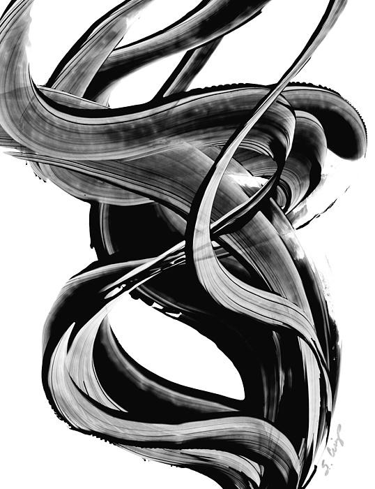 Black magic 314 by sharon cummings painting by sharon cummings for Black and white painting techniques