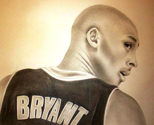 Kobe Bryant Drawing - Black Mamba by Araceli Rizo