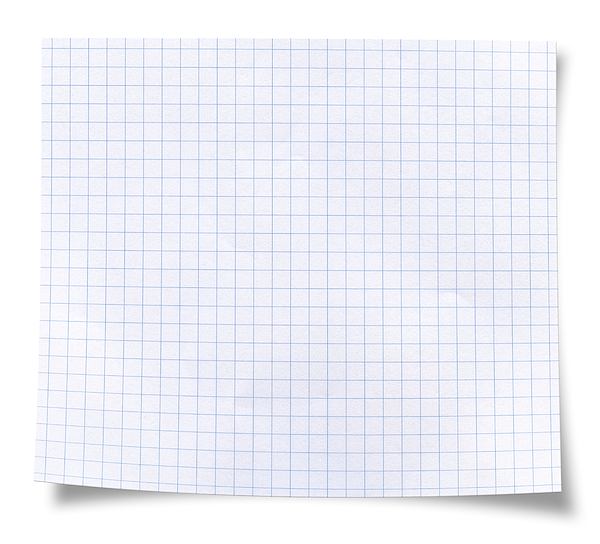 Blank Square Rules Lined Paper Photograph by Tolga TEZCAN