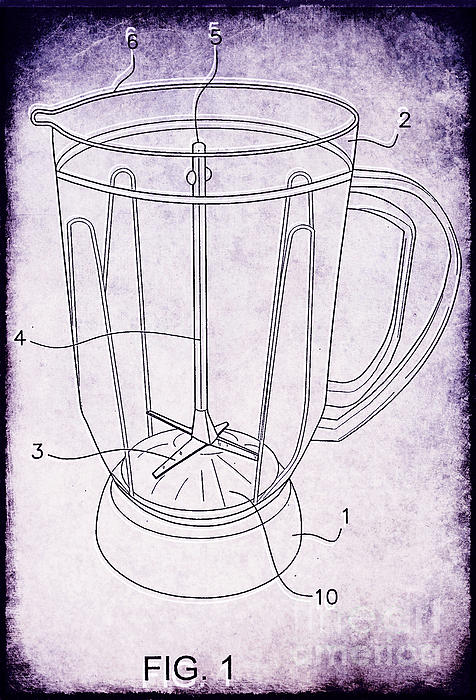 Kitchen Photograph - Blender Patent by Edward Fielding