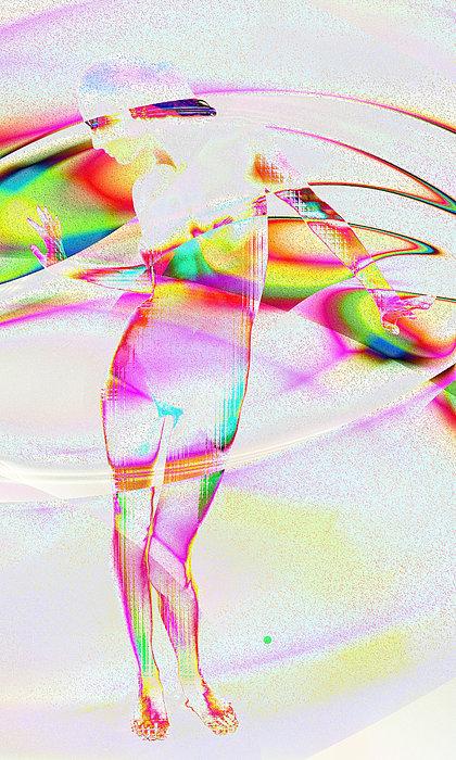 Glass Digital Art - Blinded By The Light by Kiki Art