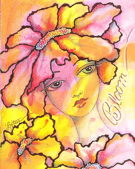 Whimsical Painting - Bloom by Joann Loftus