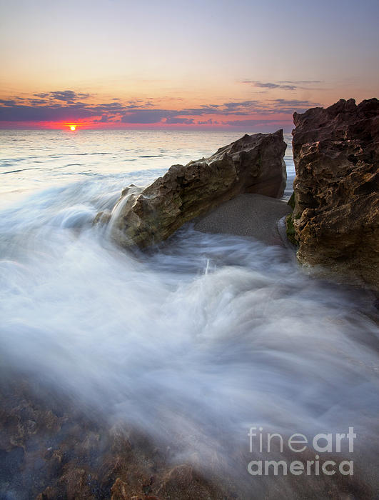 Blowing Rocks Photograph - Blowing Rocks Sunrise by Mike  Dawson