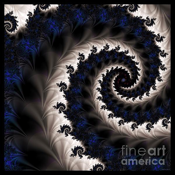 Blue Fractal Path Digital Art - Blue Fractal Path by Elizabeth McTaggart