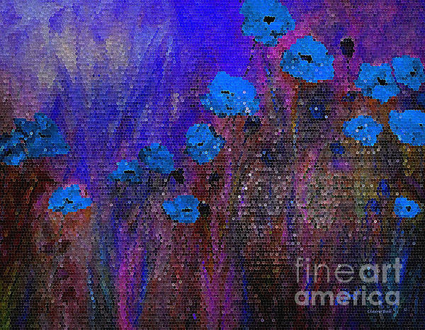 Blue Painting - Blue Poppies by Claire Bull