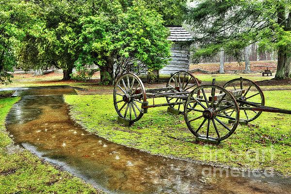 Blue Ridge Parkway Photograph - Blue Ridge Parkway Vintage Wagon In The Rain I by Dan Carmichael