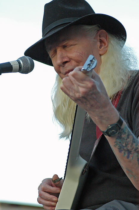 Blues Photograph - Bluesman Johnny Winter by Mike Martin
