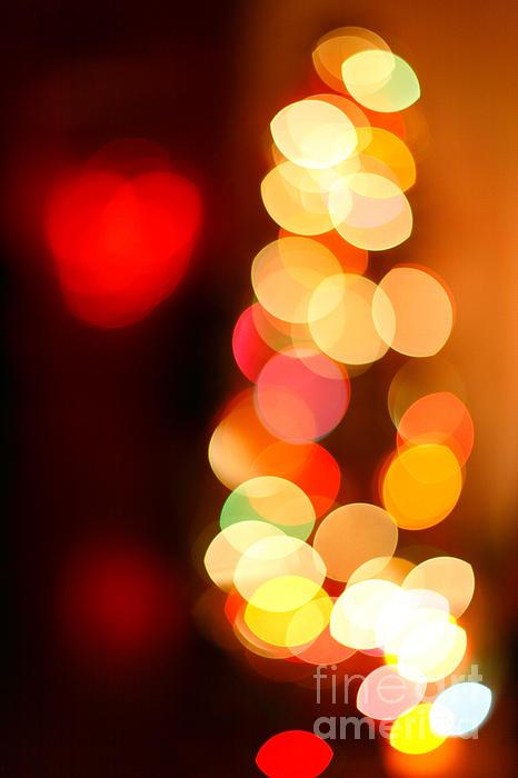 Christmas Photograph - Blurred Christmas Lights by Gaspar Avila