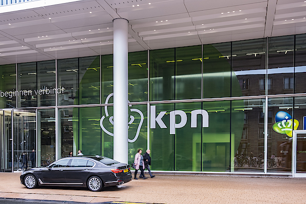 Bmw 7-series Luxury Executive Limousine Parked In Front Of The Kpn Office In Rotterdam Photograph by Sjo