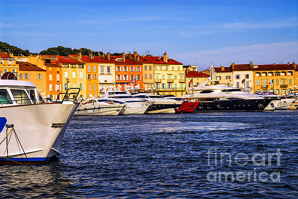 Yacht Photograph - Boats At St.tropez Harbor by Elena Elisseeva