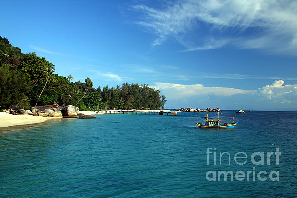 Boats Photograph - Boats With Beautiful Sea by Boon Mee