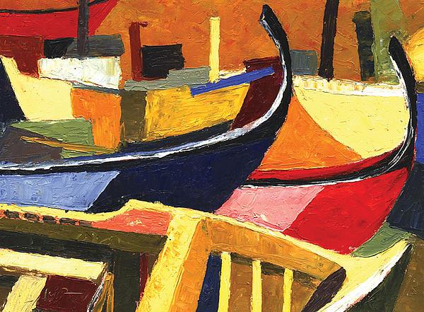 Boat Painting - Boatyard by Ahmed Amir
