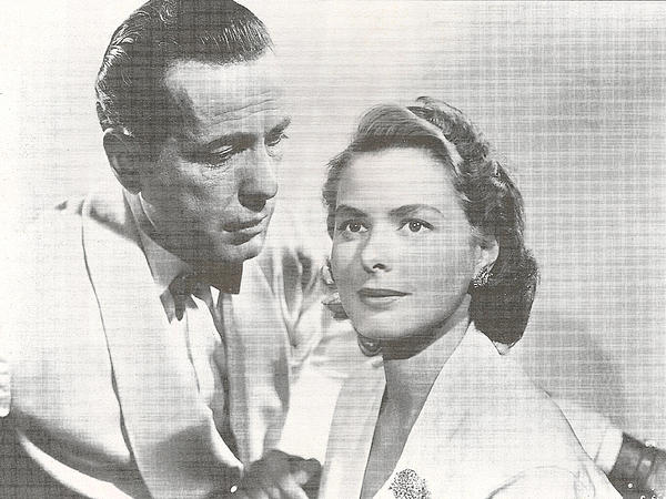 Bogart Digital Art - Bogart And Bergman by Georgia Fowler