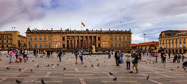 Bogota, Colombia: Parliament Building On Plaza Bolivar; Overcast Afternoon. Photograph by Devasahayam Chandra Dhas