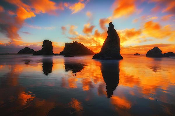 Sunset Photograph - Boldly Bandon by Darren  White