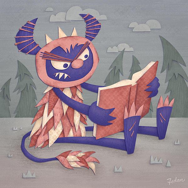 Monsters Digital Art - Book by David Fedan